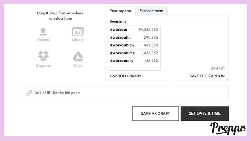 Preppr Desktop Hashtag to grow your Instagram Audience