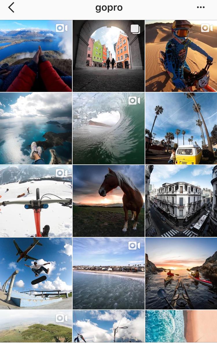 GoPro e-commerce Instagram