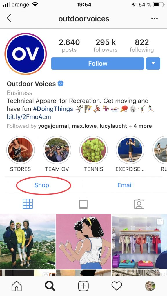 New Instagram shopping feature no 1: The Instagram 'Shop' Tab