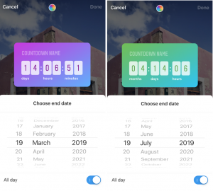 Add a countdown counter to your Instagram stories