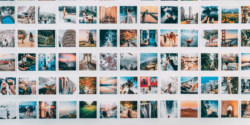 Images laid out in rows