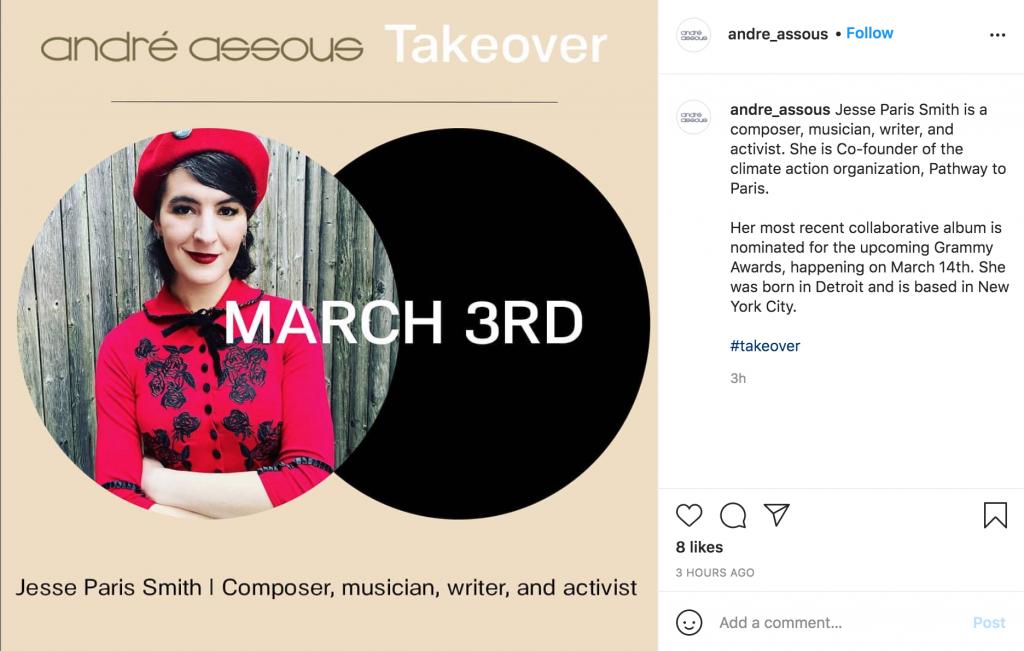 Instagram takeiver promo