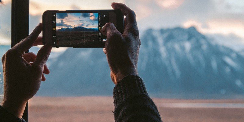 Using grid on smartphone for great photo composition