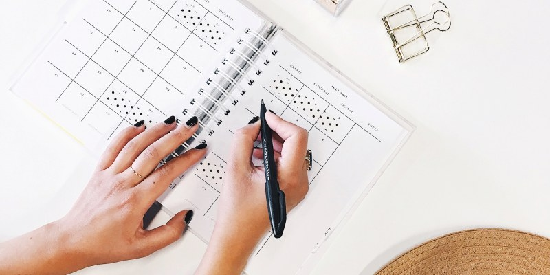 Working on social media calendar