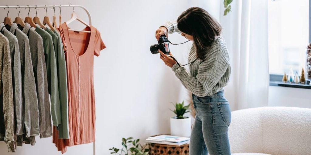 Taking photos of clothing for small business