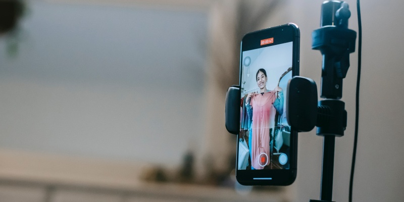 Filming social media video content on phone