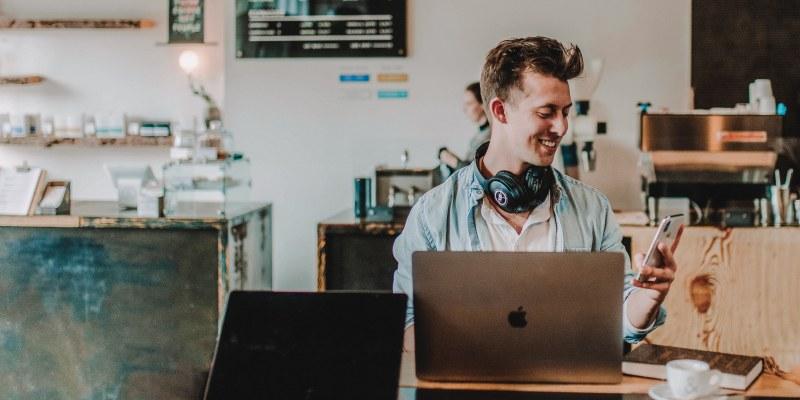 Man using Instagram creator studio