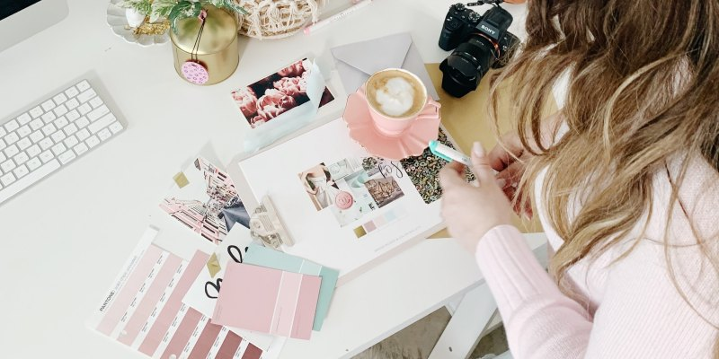 Planning brand aesthetic and color scheme
