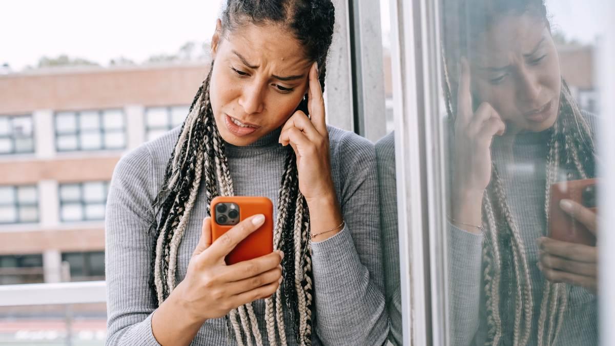 Woman who needs a social media break
