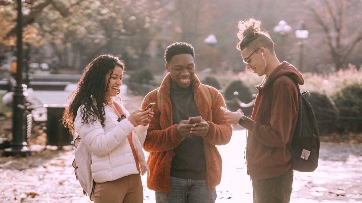 Group of people using Instagram Polls